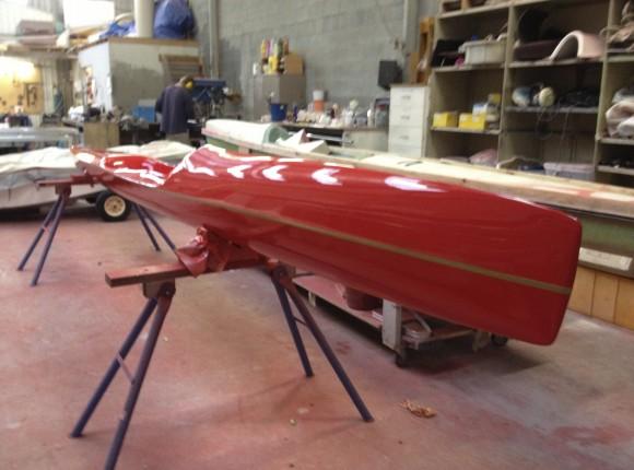 Building a custom design surf ski in Carbon Fibre.