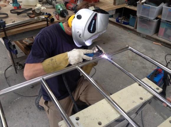 Custom stainless railing